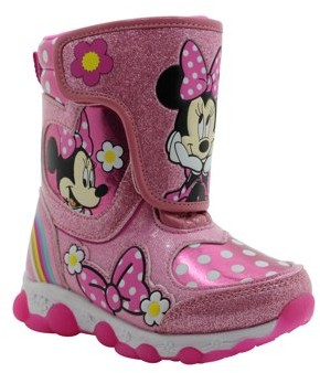 Minnie Mouse Disney Light-up Insulated Winter Snow Boot (Toddler Girls)