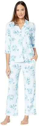 Karen Neuburger Womens Long-Sleeve Floral Girlfriend Pajama Set Pj