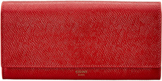 Celine Large Flap Leather Continental Wallet