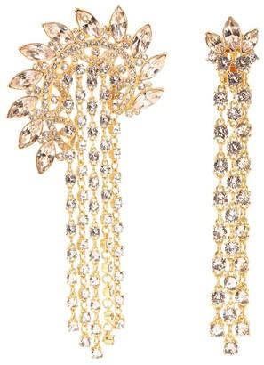 Oscar de la Renta Embellished clip-on earrings