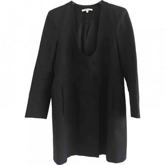 Carven Black Cotton Coat for Women