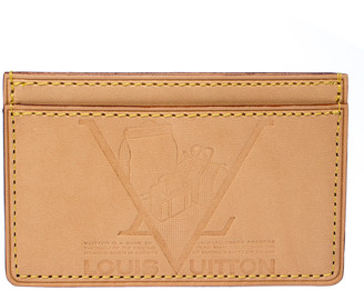 Louis Vuitton Beige Leather New Article-Free Card Holder