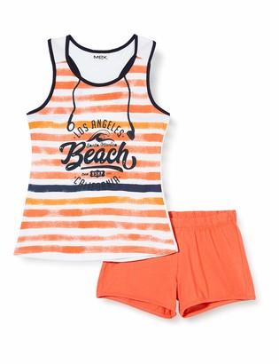 MEK Girl's Compl.Canotta+Shorts Clothing Set