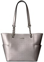 Calvin Klein Key Item Saffiano Leather Tote Tote Handbags
