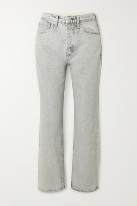 Rag & Bone Maya High-rise Straight-leg Jeans - Gray