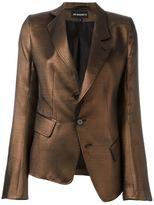 Ann Demeulemeester metallic blazer - women - Cotton/Nylon/Polyester/Rayon - 40