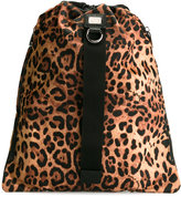 Dolce & Gabbana leopard print drawstring backpack - men - Nylon - One Size