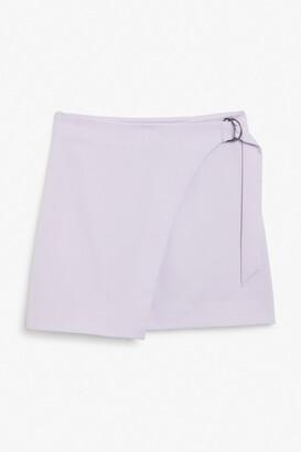 Monki Imitation wrap mini skirt