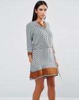 AX Paris Vintage Print Swing Dress With Tie Waist