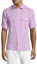 Toscano Linen Short Sleeve Chambray Sportshirt