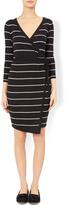Summer Stripe Wrap Dress