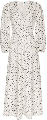Rixo Blaire star print dress