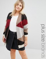 Junarose Patched Knitted Cardigan
