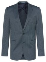 HUGO BOSS Cotton Patterned Sport Coat, Slim Fit Nobis 36RBlue