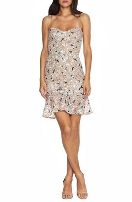 Dress the Population Jill Sequin Floral Minidress
