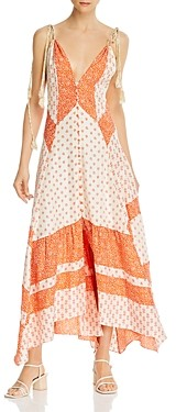 Rebecca Taylor Colorblocked Maxi Dress