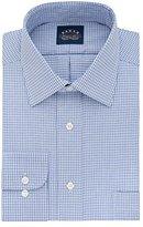 Eagle Men's Non Iron Flex Collar Regular Fit Check Spread Collar Dress Shirt