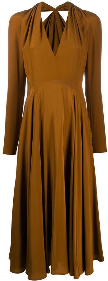 Victoria Beckham cutout-back flared A-line dress