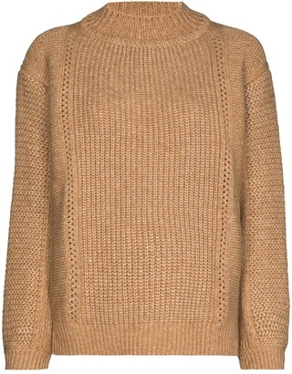 See by Chloe Chunky-Knit High-Neck Jumper