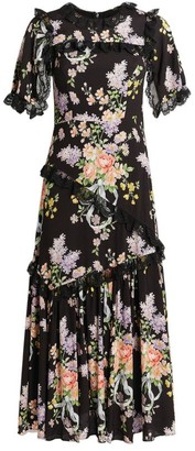 Needle & Thread Floral Diamond Elsa Midi Dress