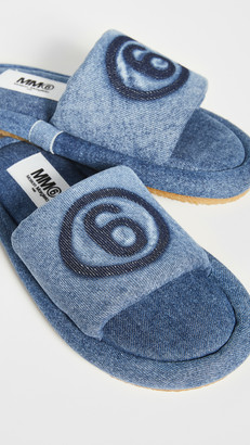 MM6 MAISON MARGIELA Working Rubber Denim Slipper Slides
