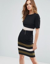 Paper Dolls Color Block Stripe Panel Dress