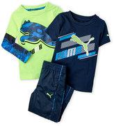Puma Toddler Boys) 3-Piece Graphic Tee & Track Pants Set