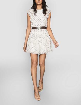 Reiss Valerie floral-print crepe mini dress