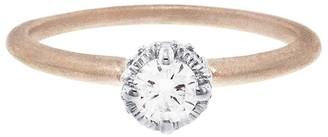 Megan Thorne Two Tone Diamond Ribbon Rose Gold Crown Ring