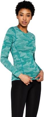 Aurique Amazon Brand Women's Long Sleeve Camo Sports Top