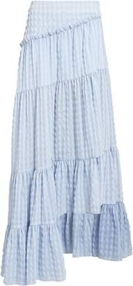 3.1 Phillip Lim Gingham Ruffled Asymmetric Skirt