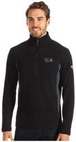 Mountain Hardwear MicroChill Tech Zip T (Black/Black) - Apparel