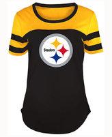 5th & Ocean Women's Pittsburgh Steelers Limited Edition Rhinestone T-Shirt