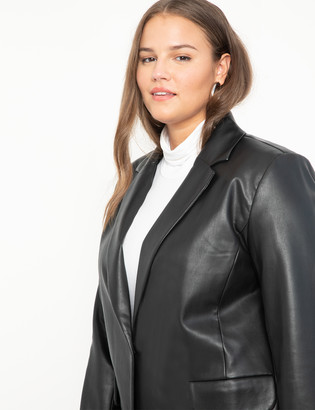 ELOQUII Menswear Vegan Leather Blazer