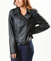 Paparazzi Black Faux Leather Moto Jacket