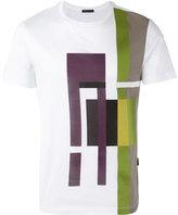 Pal Zileri geometric print T-shirt - men - Cotton/Leather - S