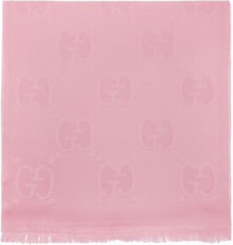 Gucci Pink Wool GG Scarf