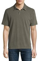 James Perse Sueded Jersey Polo Shirt, Taupe