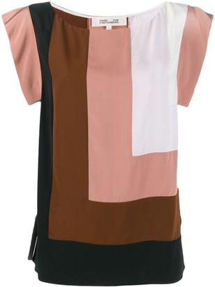 Dvf Diane Von Furstenberg Burlwood Multi blouse