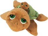 BabyCentre Suki Gifts Li'L Peepers Mummy and Baby Sandy Turtle Soft Boa Plush Toy (Brown/ Green)