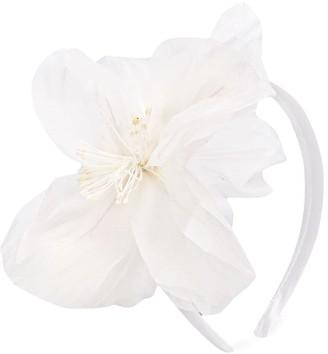 La Stupenderia Floral-Applique Transparent Headband