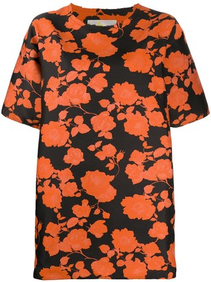 Marques Almeida floral print T-shirt dress