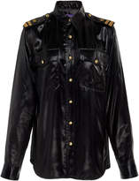 Ralph Lauren Adora Faux-Leather Shirt