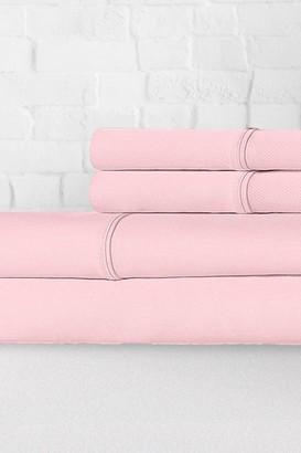Ella Jayne Percale 300 Thread Count 4-Piece Sheet Set - Blush - Full