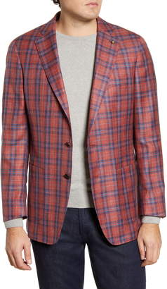 Peter Millar Capri Soft Classic Fit Plaid Wool Blend Sport Coat