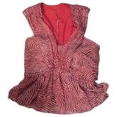 Isabel Marant Burgundy Silk Top