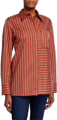 Lafayette 148 New York Greyson Splendid Stripe Button-Down Blouse