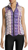 Charlie Jade Floral-Print Puffer Vest, Multi