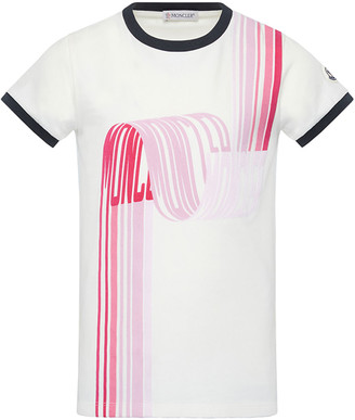 Moncler Girl's Short-Sleeve Scribbled Logo T-Shirt, Size 8-14