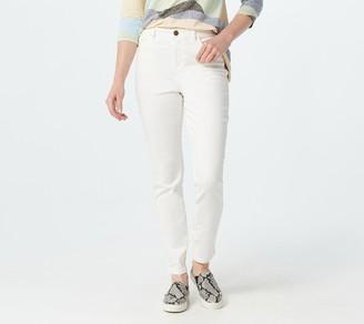 Logo by Lori Goldstein Skinny Leg High-Waist Color Jeans